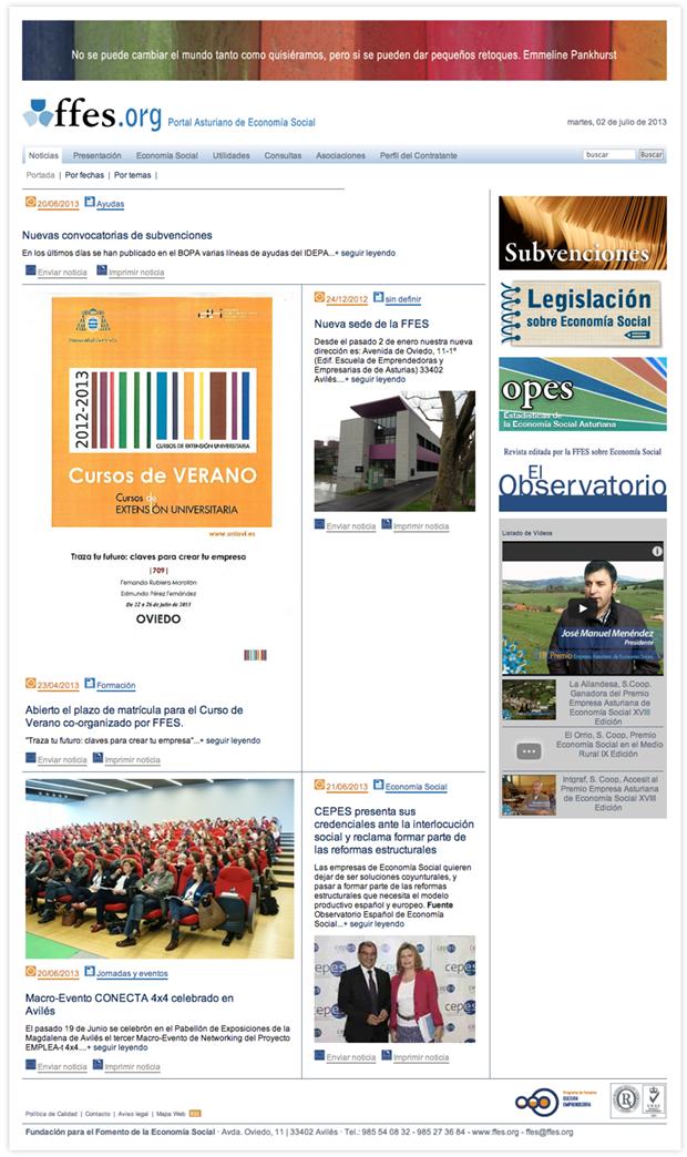 Fundación para el Fomento de la Economía Social   ffes.org   Portal Asturiano de Economía Social