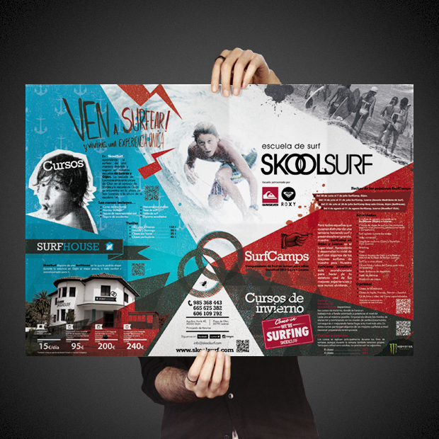 SkoolSurf Poster-Folleto